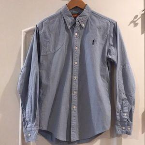 Ball and Buck blue chambray button down shirt, M